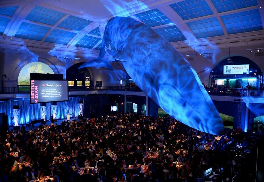 A general view of the atmosphere at the USC Shoah Foundation Institute 2013 Ambassadors for Humanity gala at the American Museum of Natural History on October 3, 2013 in New York, New York.  (Photo by Larry Busacca/Getty Images for the USC Shoah Foundation Institute) Photo: Larry Busacca, (Credit Too Long, See Caption)