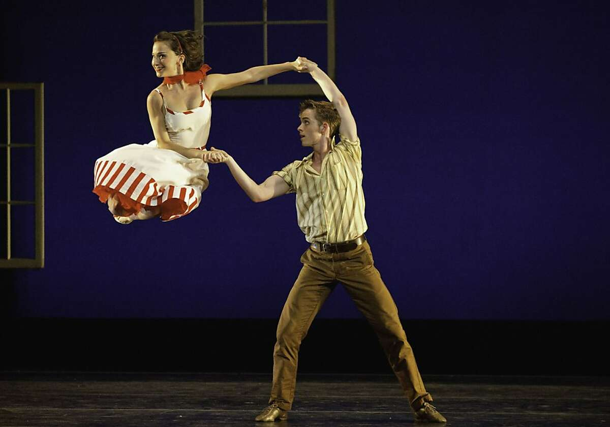 (l-r) Smuin Ballet dancers Terez Dean and Christian Squires in Dear Miss Cline by Choreographer in Residence Amy Seiwert, performed as part of Smuin's XXtremes Fall Program, October 4-12 at San Francisco's Palace of Fine Arts.
