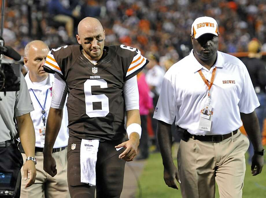Browns quarterback Brian Hoyer exits his dream stage with a knee injury that will cause him to miss the rest of 2013. Photo: David Richard, Associated Press