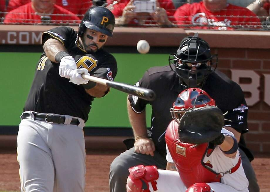 Pedro Alvarez connects for a two-run home run in the second inning to give the Pirates a 3-0 lead over the Cardinals. Photo: Sarah Conard, Associated Press