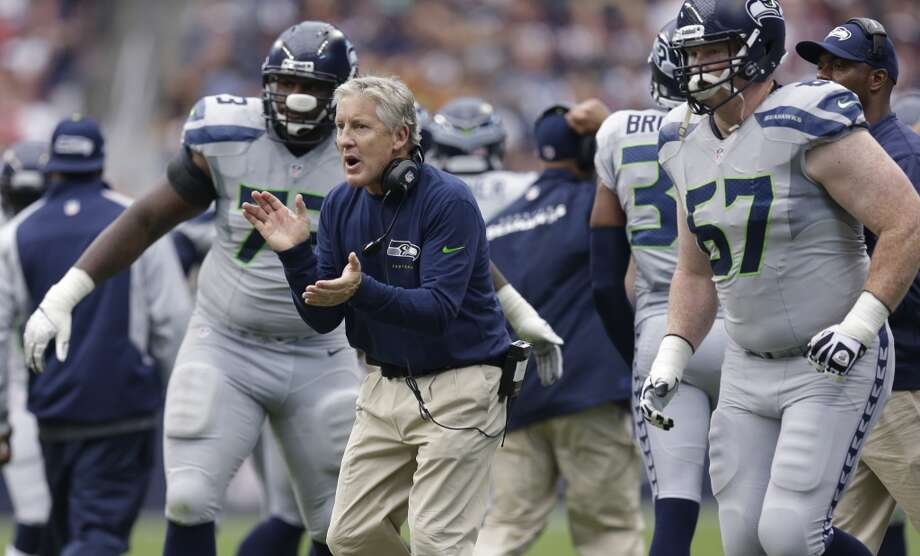 Five things to watch: Seattle Seahawks (4-0) at Indianapolis Colts (3-1) Sunday, Oct. 6 | 10 a.m. PDT | Lucas Oil Stadium, Indianapolis | TV: Fox  Seahawks fans are still flying high after their team's wild comeback victory in Houston last Sunday. But it's time to move on. The Hawks next take on the Colts in Indianapolis this Sunday for the second contest of their two-game road stint.  Headlining the game is the first gridiron meeting of Andrew Luck and Russell Wilson, two of 2012's three highly rated rookie quarterbacks (the third being Washington's Robert Griffin III, who was named Offensive Rookie of the Year). And we'll get to that in a bit. But there are many important storylines heading into the formidable contest.  Click through the gallery for our five biggest things to watch as the Seahawks take on the Colts. Photo: David J. Phillip, Associated Press