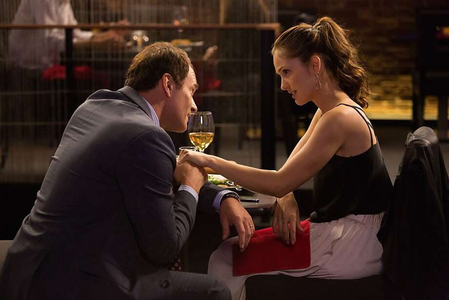 "Julian McMahon and Minka Kelly engage in a tete-a-tete in ""Full Circle,"" a series of close encounters. Photo: Chuck Zlotnick, DirecTV"