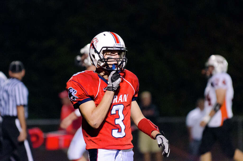 Foran's Joshua Mixie (3) on the field during the football game against Shelton at Foran High School in Milford on Friday, Oct. 4, 2013. Photo: Amy Mortensen / Connecticut Post Freelance