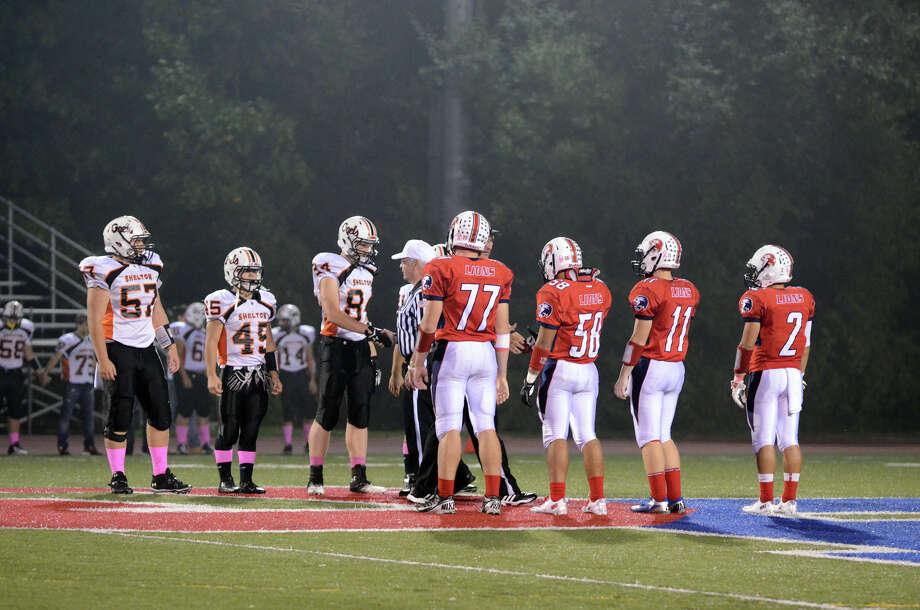 Foran High School football against Shelton High School at Foran High School in Milford on Friday, Oct. 4, 2013. Photo: Amy Mortensen / Connecticut Post Freelance