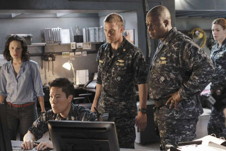 "From left: Camille De Pazzis, Michael Ng, Scott Speedman and Andre Braugher in ABC's ""Last Resort,"""