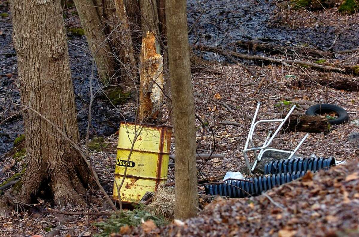 Tuesday, Jan. 26th, 2010, A discarded drum and debris found behind Scofield Manor at 614 Scofieldtown Road.