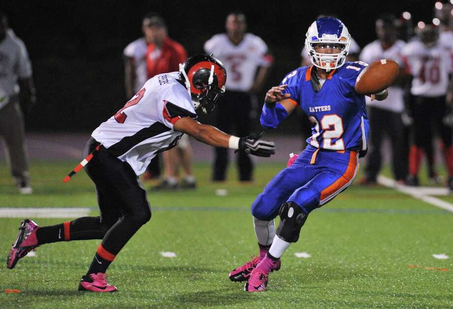 Photos from the FCIAC high school football game between Danbury and Bridgeport Central at Danbury High School in Danbury, Conn. on Friday, Oct. 4, 2013. Photo: Tyler Sizemore / The News-Times