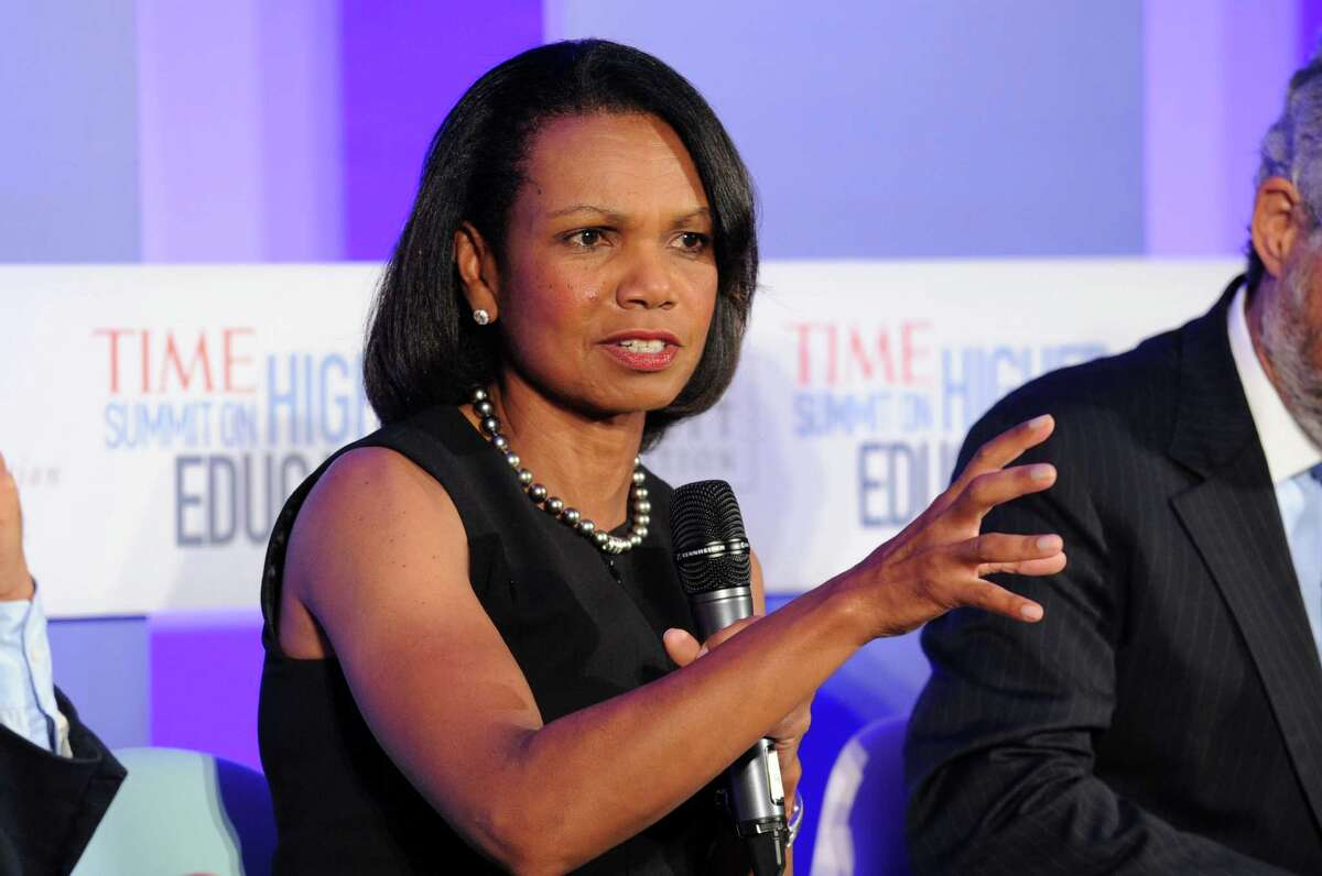 NEW YORK, NY - SEPTEMBER 19: Former US secretary of the State and professor Condoleezza Rice at the TIME Summit On Higher Education Day 1 at Time Warner Center on September 19, 2013 in New York City. (Photo by Bryan Bedder/Getty Images for TIME)