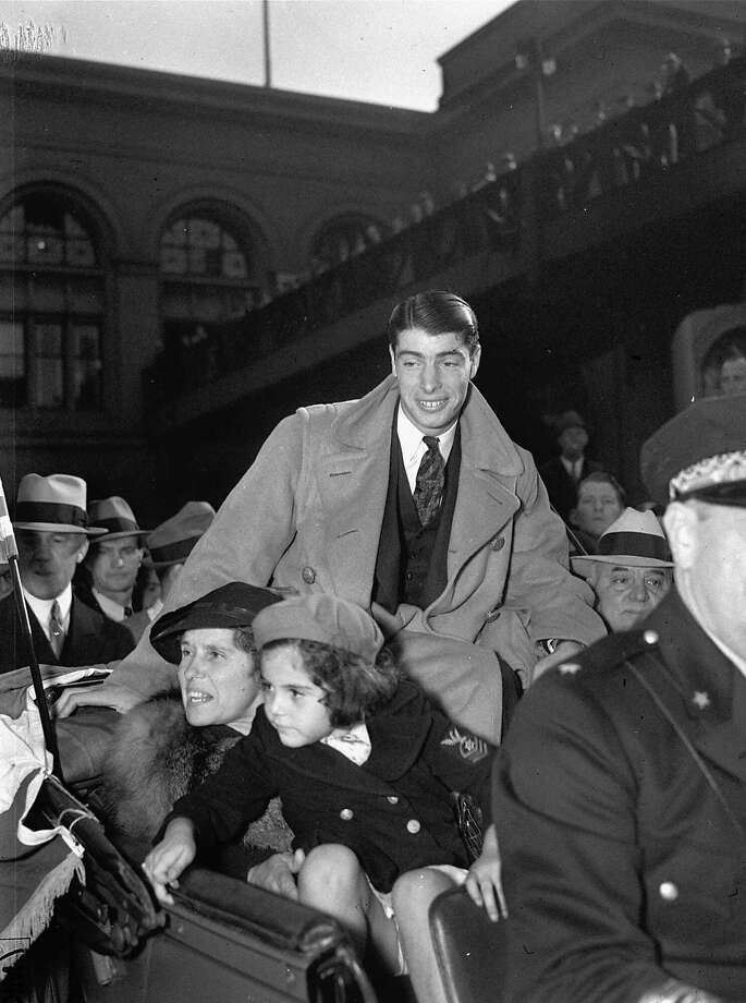 Joe DiMaggio received a rousing welcome when he returned home to San Francisco after helping the Yankees win the 1936 World Series. Photo: File, Associated Press