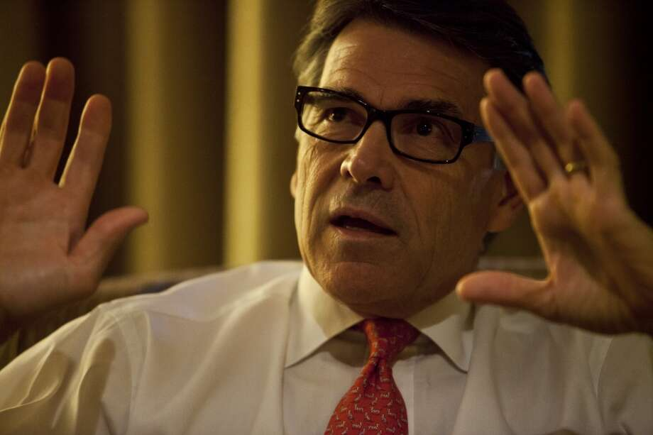 Texas Governor Rick Perry during an one on one interview with SF Chronicle reporters. Photo: Ted Soqui, Special To The Chronicle