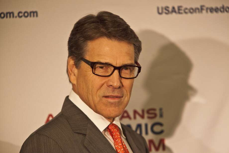 Texas Governor Rick Perry speaking a press conference. California Republican Party convention at the Anaheim Hilton. Photo: Ted Soqui, Special To The Chronicle