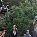 Festival goers watch from the hill above Hellman Hollow during the Hardly Strictly Bluegrass Festival in Golden Gate Park, in San Francisco, Ca, on Friday, Oct. 4, 2013.