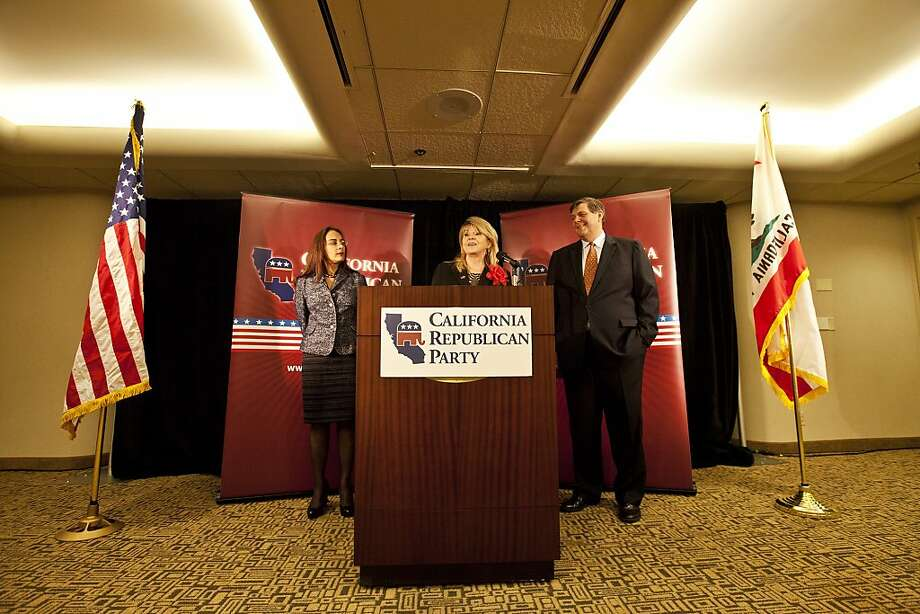 Press conference with the leaders of the California Republican Party at the Anaheim Hilton, Jim Brulte is on the right. Photo: Ted Soqui, Ted Soqui For The Chronicle
