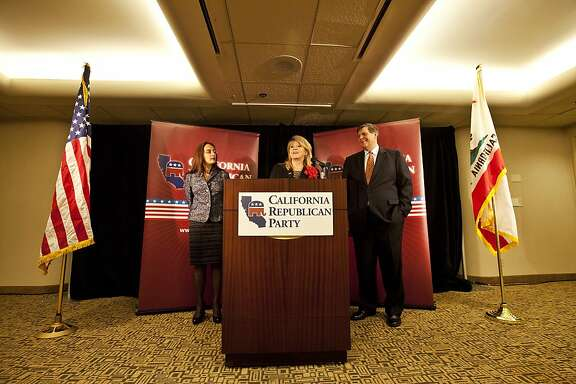 Press conference with the leaders of the California Republican Party at the Anaheim Hilton, Jim Brulte is on the right.