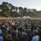 The crowd listen to Bonnie Raitt at the Hardly Strictly Bluegrass Festival Golden Gate Park, in San Francisco, Ca, on Friday Oct. 4, 2013