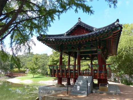 "The Korean pavilion, a 2010 ""sister city"" gift from San Antonio's  South Korean sister city of GwangJu, graces the Denman Estate Park. Read More Photo: Billy Calzada, San Antonio Express-News / San Antonio Express-News"