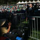 Crowds clap for the first band on the Banjo Stage, Spirit Family Reunion, during the second day of the Hardly Strictly Bluegrass festival in Golden Gate Park October 5, 2013 in San Francisco, Calif.
