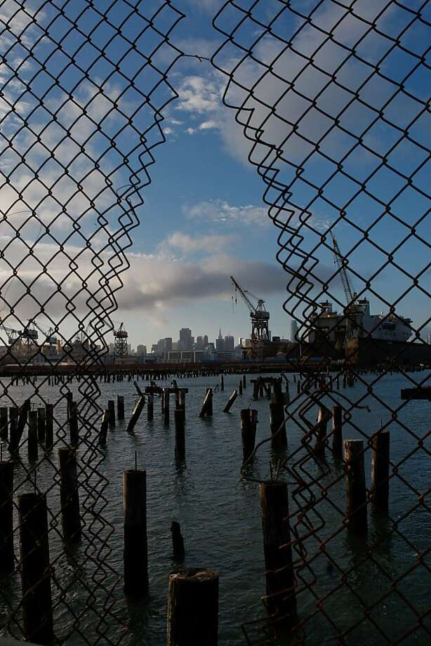 What's left of the former dock at Pier 70. Photo: John Sebastian Russo, The Chronicle