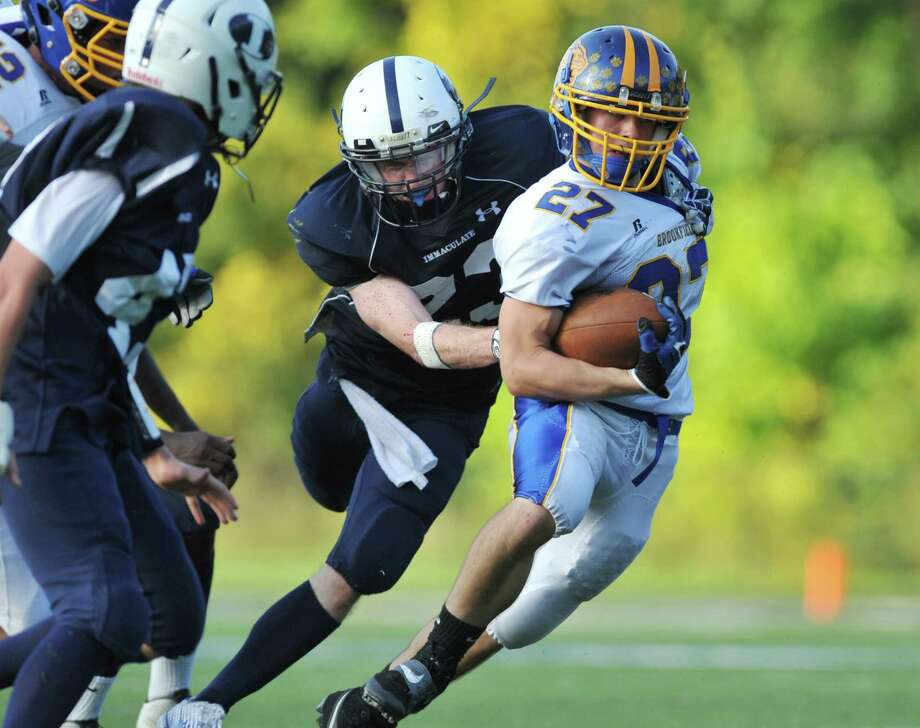Photos from the SWC high school football game between Immaculate and Brookfield at Immaculate High School in Danbury, Conn. on Saturday, Oct. 5, 2013. Photo: Tyler Sizemore / The News-Times