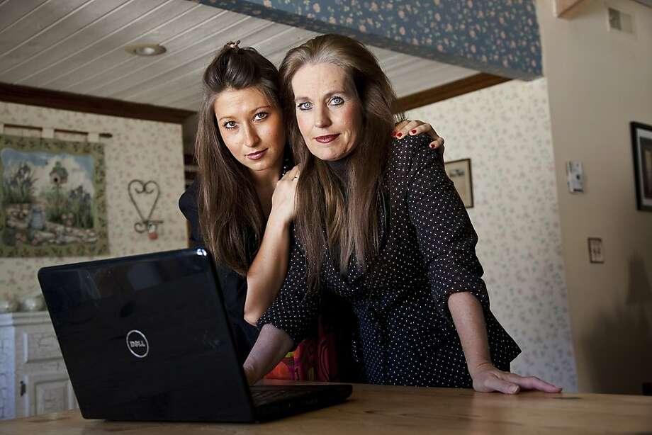 Charlotte Laws (right) fought to have daughter Kayla's topless photo - hacked and posted online without consent - pulled. Photo: Ted Soqui, Special To The Chronicle