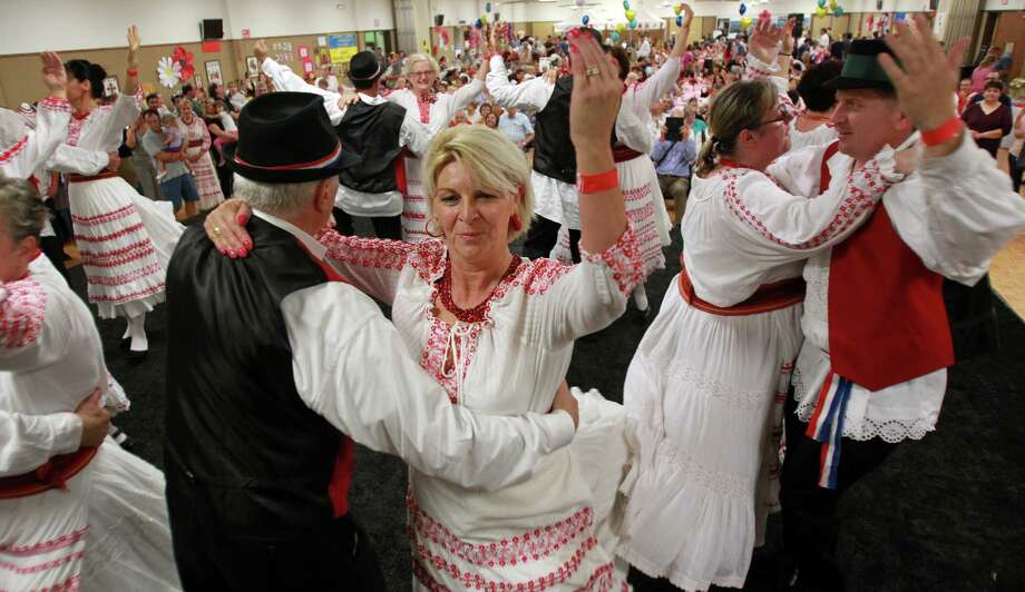Merlina Jelinic performs with the Lone Star Croatian Dance Group during the 50th Annual Sts. Gyril & Methodius Slavic Heritage Festival held at Knights of Columbus Hall and Grounds on Sunday, Sept. 29, 2013, in Houston. Photo: Mayra Beltran, Houston Chronicle / © 2013 Houston Chronicle