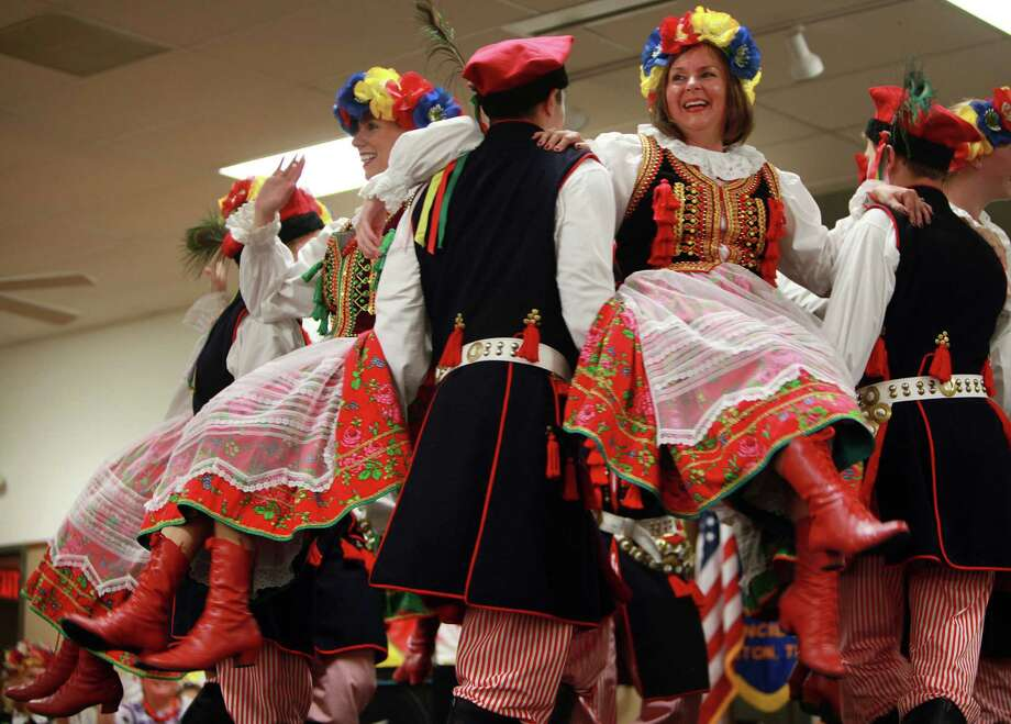 Mary Ann Ciaston performs with the Wawel Polish Folk Dance Group during the 50th Annual Sts. Gyril & Methodius Slavic Heritage Festival held at Knights of Columbus Hall and Grounds on Sunday, Sept. 29, 2013, in Houston. Photo: Mayra Beltran, Houston Chronicle / © 2013 Houston Chronicle