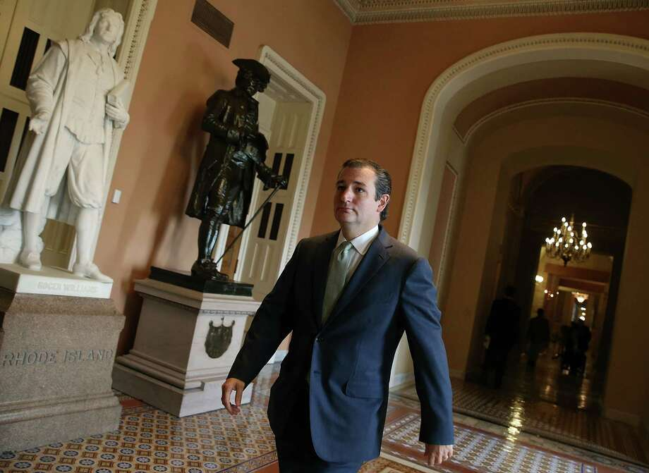 While Sen. Ted Cruz is receiving support for his crusade to derail the Affordable Care Act from some in the House, he finds himself increasingly isolated in the Senate over his tactics. Related coverage, Page A4. Photo: Mark Wilson, Staff / 2013 Getty Images