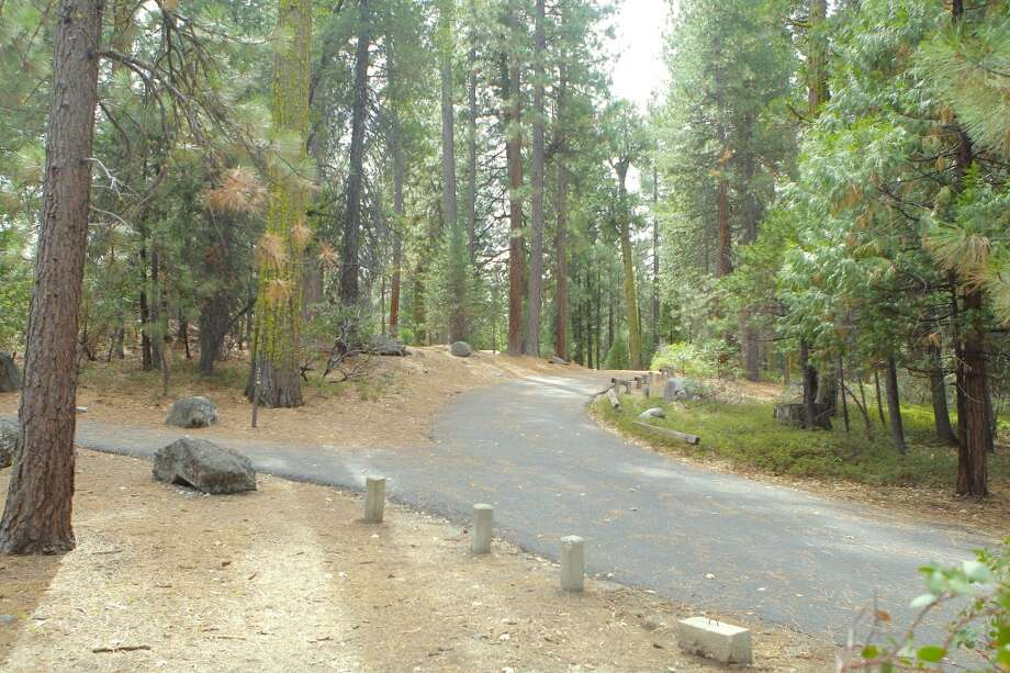 The road into Cherry Valley Campground shows no signs of fire Photo: Tom Stienstra/The Chronicle