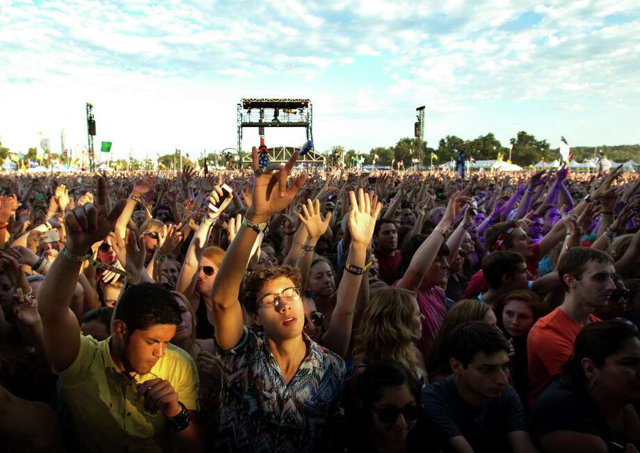 Fans watch Passion Pit  at the Austin City Limits Music Festival, Saturday, Oct. 5, 2013 at Zilker Park in Austin, Texas.  Photo: Jay Janner, Associated Press / Austin American-Statesman