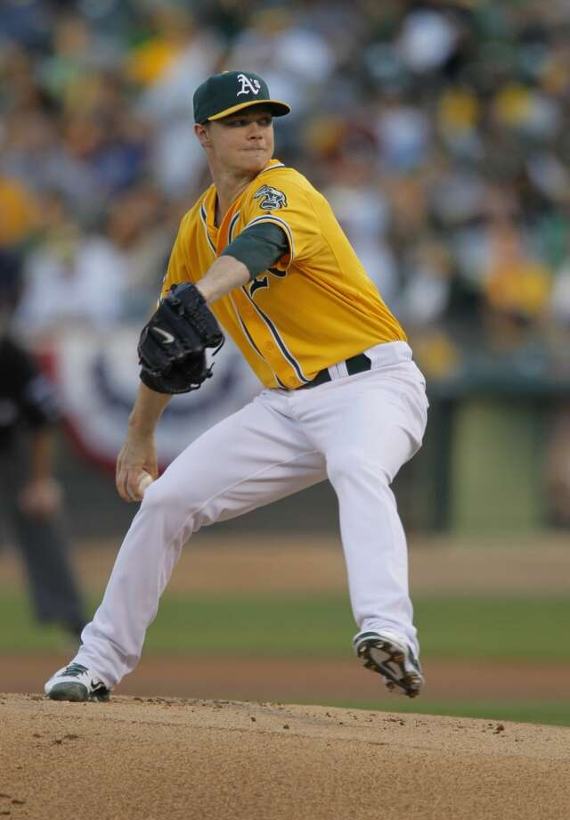 Sonny Gray started for the A's. The Oakland Athletics played the Detroit Tigers in Game 2 of the American League Division Series at O.co Coliseum in Oakland, Calif., on Saturday, October 5, 2013. Photo: Michael Macor, The Chronicle