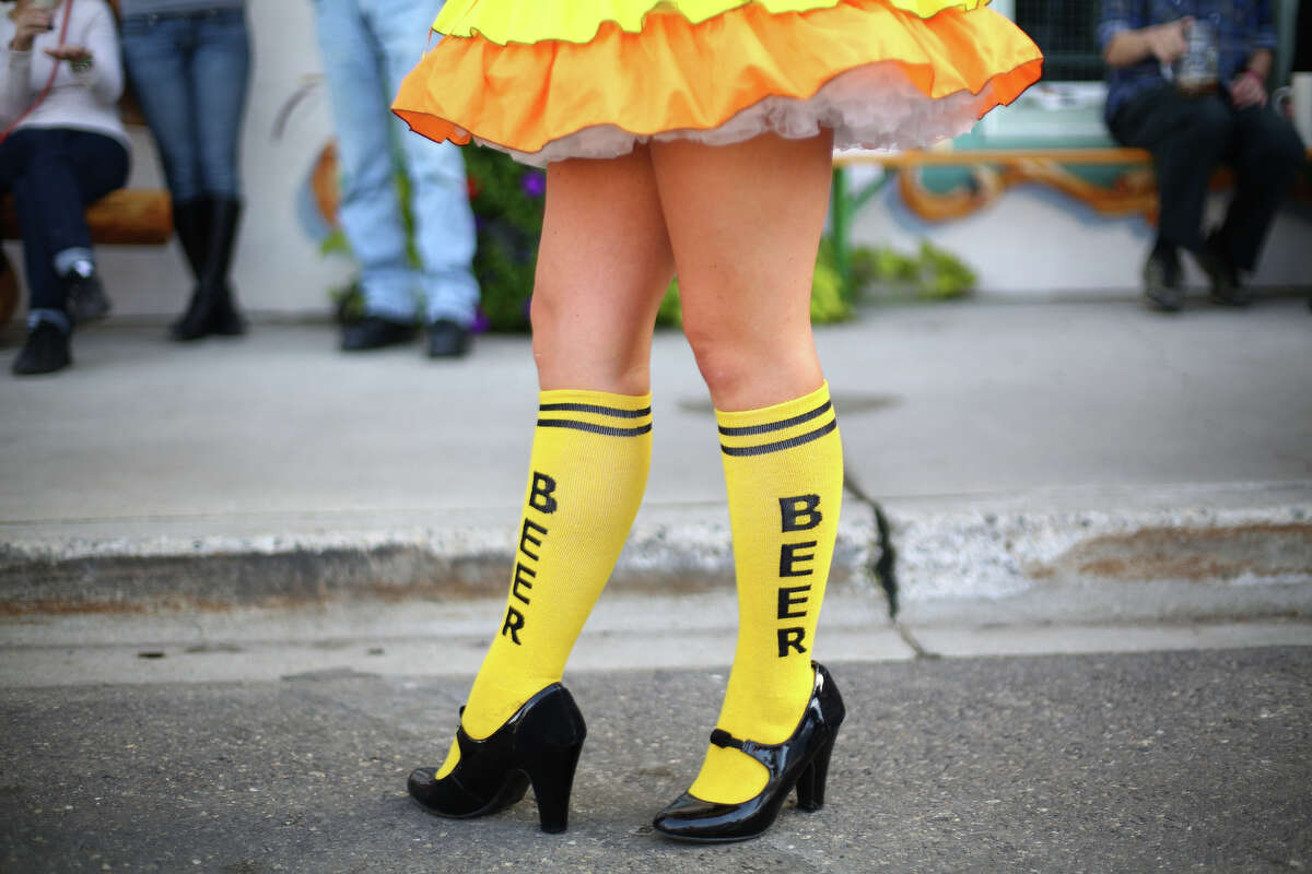 A participant wears appropriate socks.