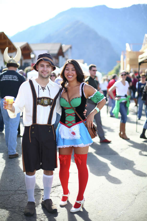 Kevin Zimmermann and Kelsi Tsukayama show their Bavarian attire. Photo: JOSHUA TRUJILLO, SEATTLEPI.COM / SEATTLEPI.COM