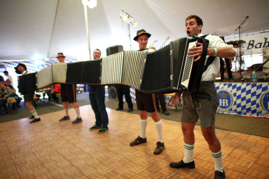 Member of the band S-Bahn play their uber accordion. Photo: JOSHUA TRUJILLO, SEATTLEPI.COM / SEATTLEPI.COM