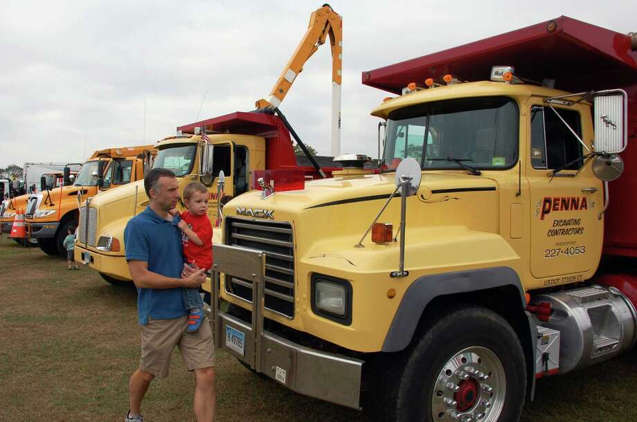 A variety of rigs, big and small, were on display for thousands of visitors Saturday at Taylor Farm Park for Kidzfest Touch-A-Truck. Photo: Jarret Liotta / Norwalk Citizen contributed