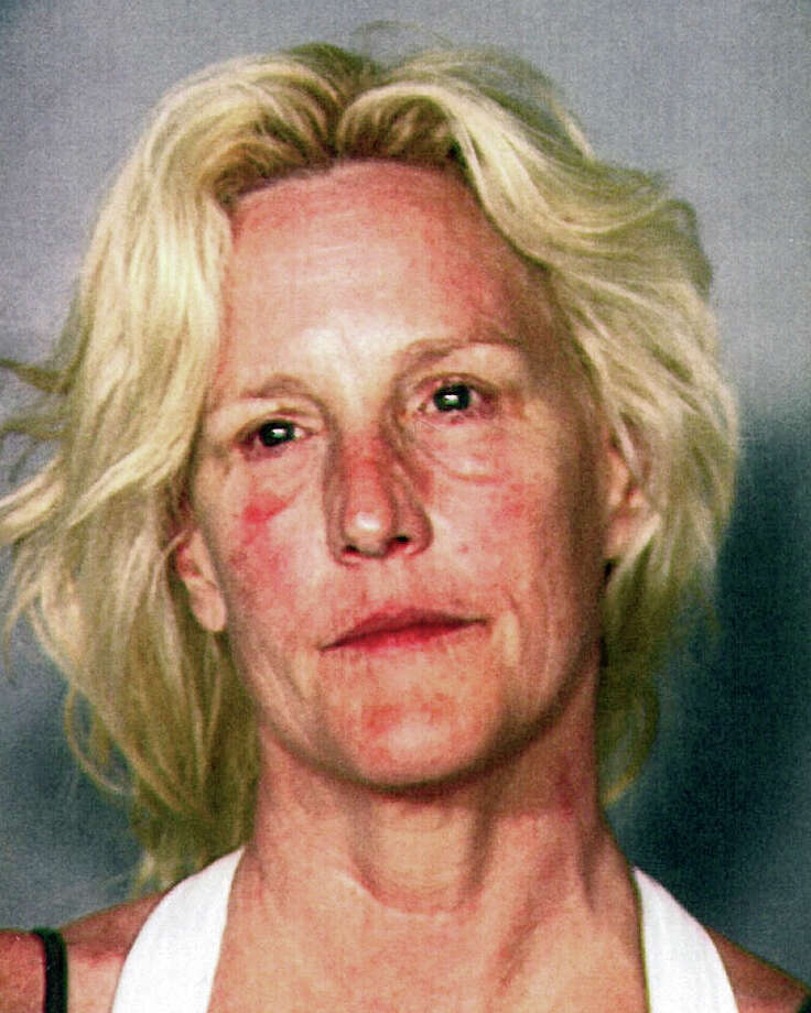 This  undated file booking photo provided by the Clark County Detention Center shows environmental activist Erin Brockovich.  Brockovich, 52, has pleaded no contest to operating a boat while intoxicated following her arrest at Lake Mead. She was arrested in June at a marina on the Colorado River reservoir after a game warden noticed she was struggling while trying to moor her motor boat. Breath tests showed her blood-alcohol level was just over twice the legal driving limit. Photo: AP