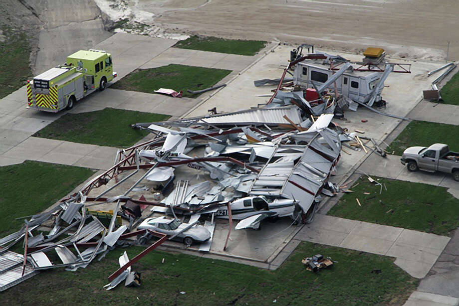This photo provided by the Nebraska State Patrol shows damage from a tornado, Saturday, Oct. 5, 2013 in Wayne, Neb. As many as nine tornadoes hit an area covering northeast Nebraska and northwest Iowa as a storm cell moved over the region Friday evening, causing structural damage and injuries but no fatalities, the National Weather Service said Saturday. Photo: AP