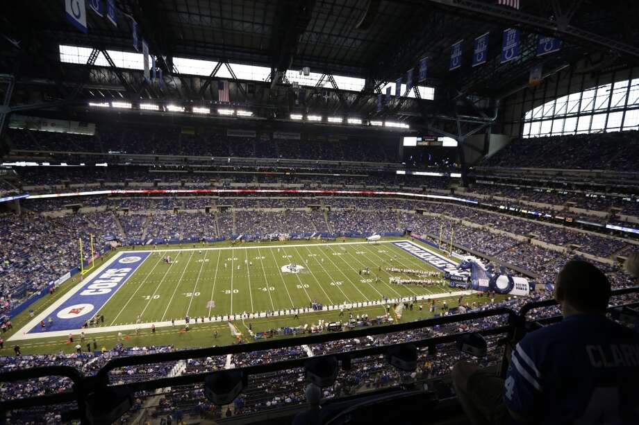Lucas Oil Stadium is shown before an NFL football game between the Indianapolis Colts and the Seattle Seahawks in Indianapolis, Sunday, Oct. 6, 2013. (AP Photo/AJ Mast) Photo: AJ Mast, AP
