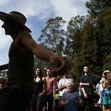 Paolo Marra-Biggs dances as the Tumbleweed Wanderers play at the Rooster Stage at Hardly Strictly Bluegrass on Sunday, Ot. 7, 2013. Hardly Strictly Bluegrass is an annual concert that takes place in Golden Gate Park.