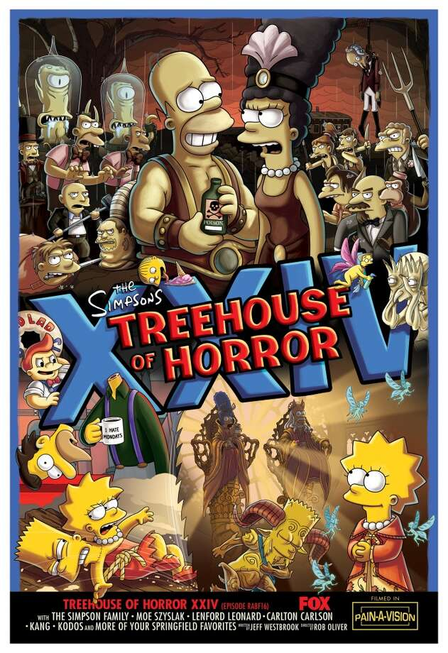 "Director Guillermo del Toro delivers a maniacally memorable opener in the all-new ""Treehouse of Horror XXIV"" episode of THE SIMPSONS airing at 7 p.m. Sunday on Fox. Photo: CR: FOX"