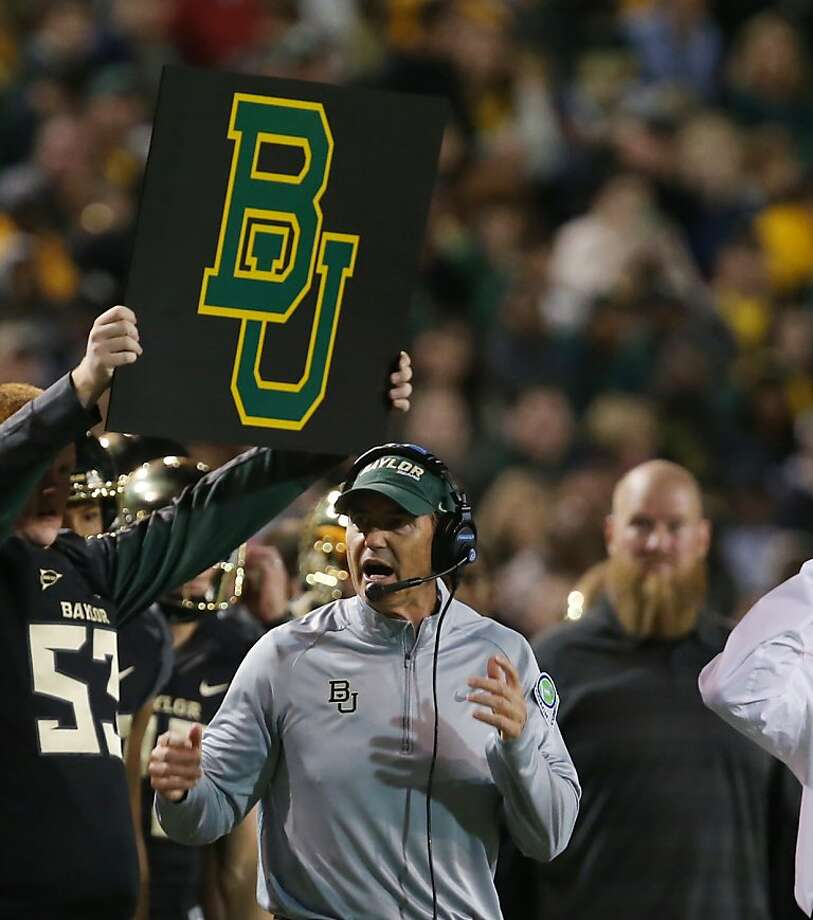 Art Briles twice engineered turnarounds as head coach, at Houston and then Baylor. Photo: Rod Aydelotte, Associated Press