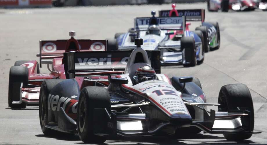 Will Power leads during the second race. Photo: Melissa Phillip, Houston Chronicle