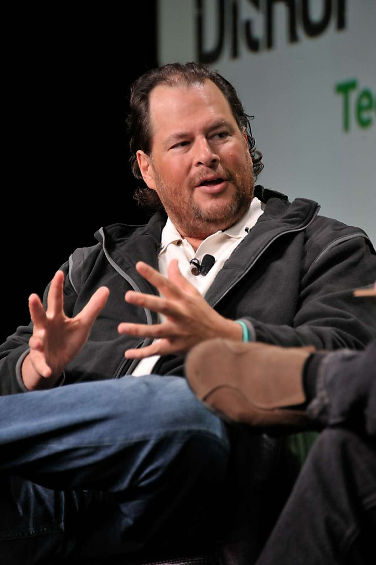 SAN FRANCISCO, CA - SEPTEMBER 10: Mark Benioff of Salesforce.com attends Day 2 of TechCrunch Disrupt SF 2013 at San Francisco Design Center on September 10, 2013 in San Francisco, California. (Photo by Steve Jennings/Getty Images for TechCrunch)