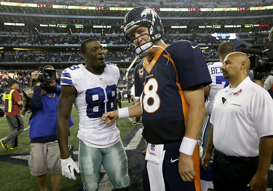 Dez Bryant and Peyton Manning put up big stats in one of the highest-scoring games in NFL history. Photo: Tony Gutierrez, Associated Press