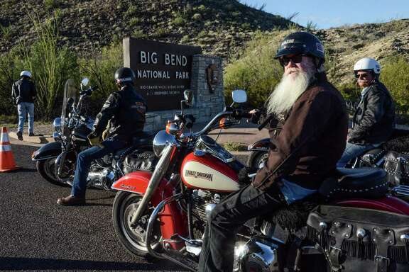 Homer French, foreground, is a Harley motorcyclist on a once in a lifetime ride through Big Bend National park, which didn't happen.