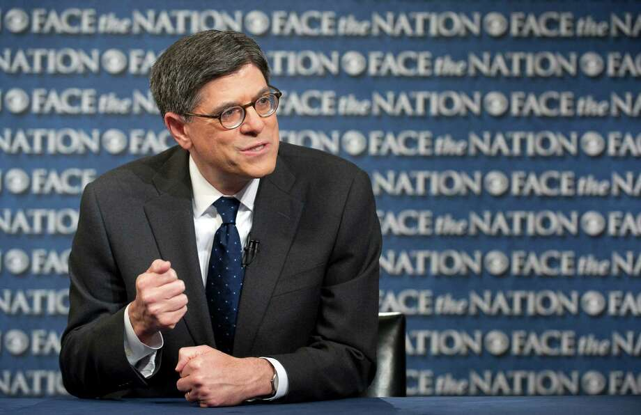 """After they run up their credit card, they don't get to ignore it,"" U.S. Treasury Jacob Lew on Congress' failure to raise the debt ceiling. Photo: CHRIS USHER, HOEP / CBS News"