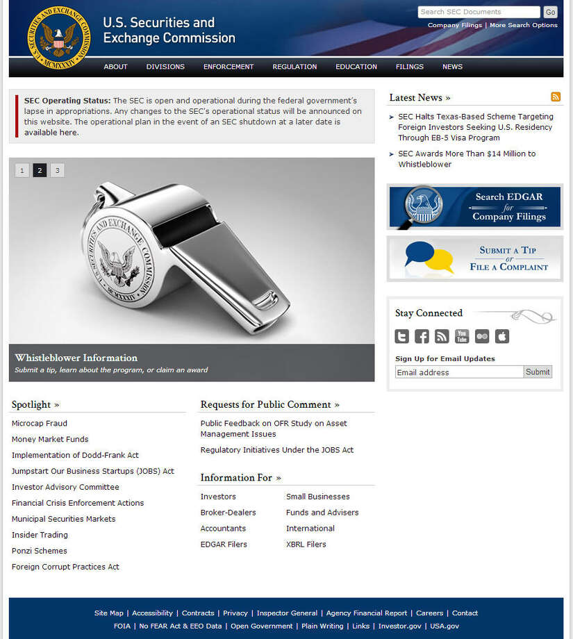 The market keeps trudging along despite the shutdown, the Securities and Exchange Commission included. Their website is still online.Related: SEC