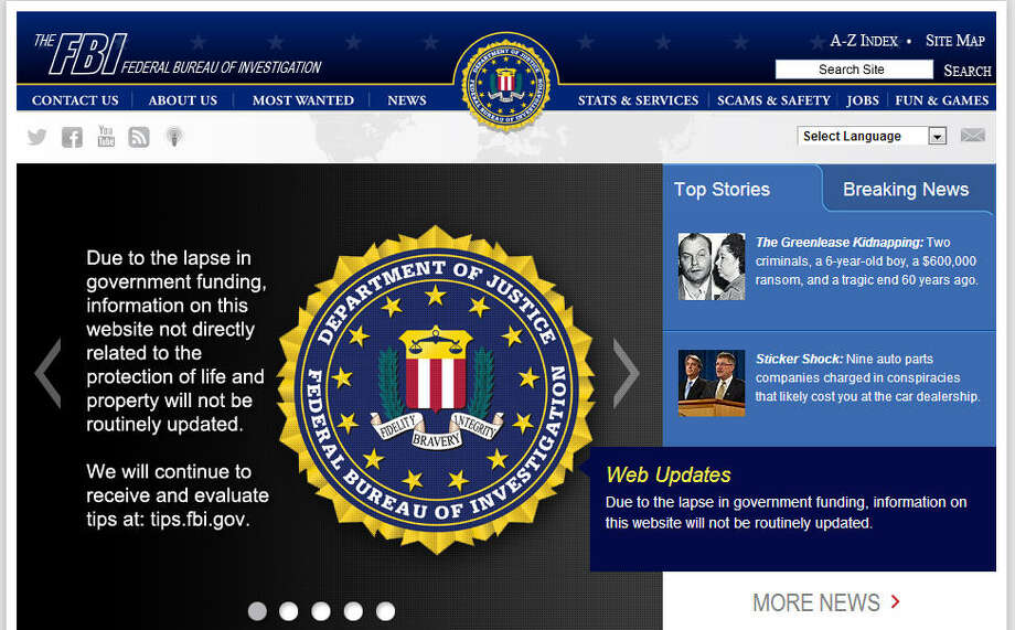 The FBI website is still up and running and updating content in limited areas.Related: FBI