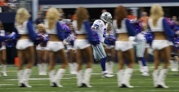 Dallas Cowboys' Tony Romo is introduced before the start of their game against the Denver Broncos at the AT&T Stadium in Arlington, Texas, Sunday, Oct. 6, 2013. The Broncos won, 51-48. Photo: San Antonio Express-News