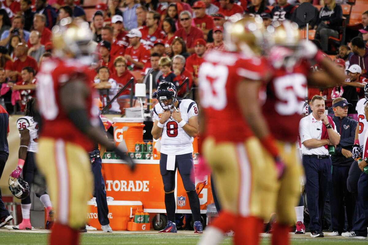 Matt Schaub has a new view after T.J. Yates took over in the fourth quarter.
