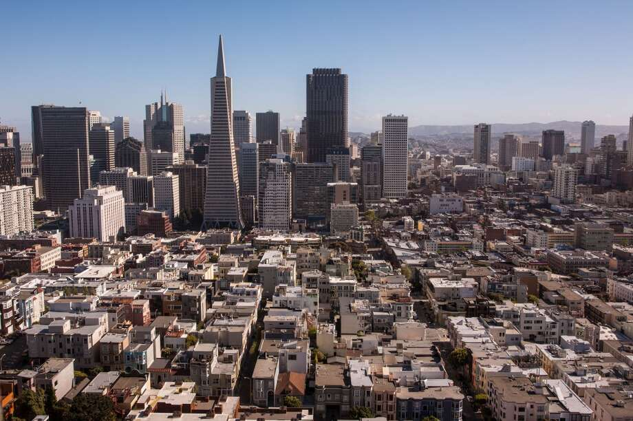 3. COIT TOWER. Coit Tower offers a classic perspective of downtown San Francisco. While this is one of the few views on this list that comes with a price, the highest rate for a trip to the top is only $7 for a non-resident adult. Photo: George Rose, Getty Images